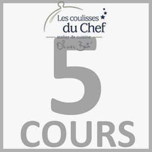 """Chèque-cadeau """"Les Coulisses du Chef"""" - Forfait 5 cours"""