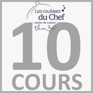 """Chèque-cadeau """"Les Coulisses du Chef"""" - Forfait 10 cours - Adulte"""