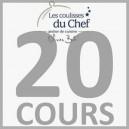 """Chèque-cadeau """"Les Coulisses du Chef"""" - Forfait 20 cours et diplôme - Adulte"""