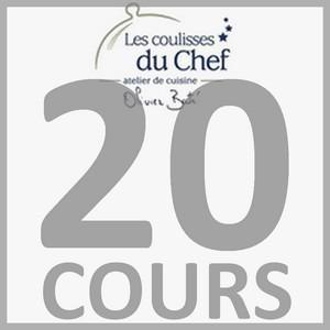 """Chèque-cadeau """"Les Coulisses du Chef"""" - Forfait 20 cours et diplôme"""