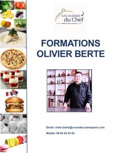 FORMATION CUISINE OLIVIER BERTE