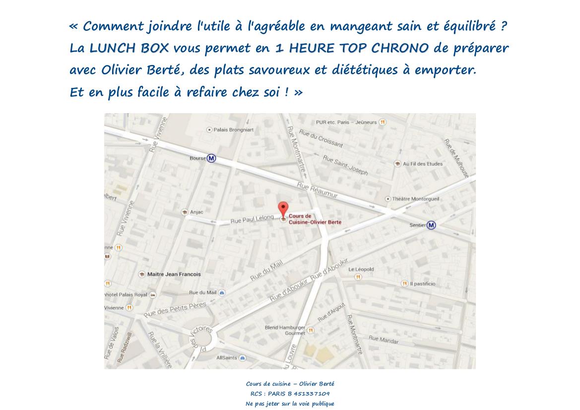ateliers lunch box « cours de cuisine à paris
